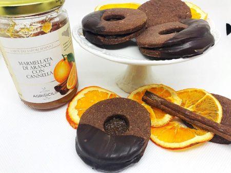 Biscotti al cacao con arancia e cannella